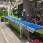 pvc bantlı robot konveyörü scaled